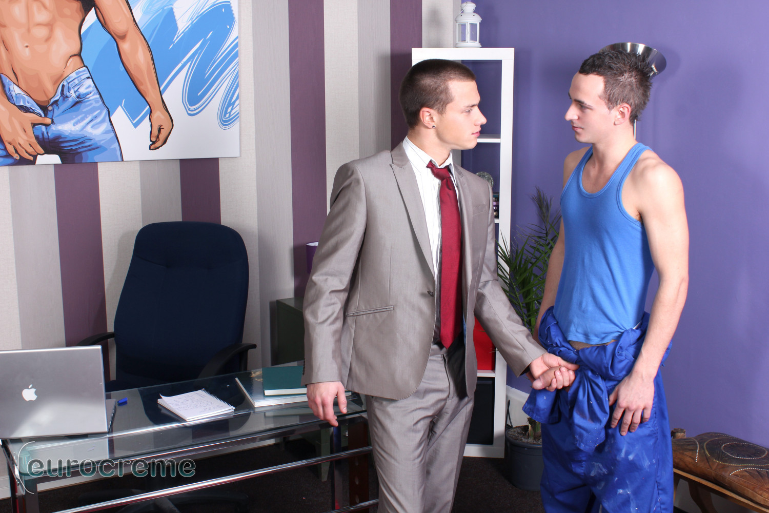 Eurocreme-Billy-Rubens-and-Luke-Desmond-big-cock-twinks-fucking-Amateur-Gay-Porn-01 Billy Rubens and Luke Desmond: Suit and Tie Twink Fucking The Handyman