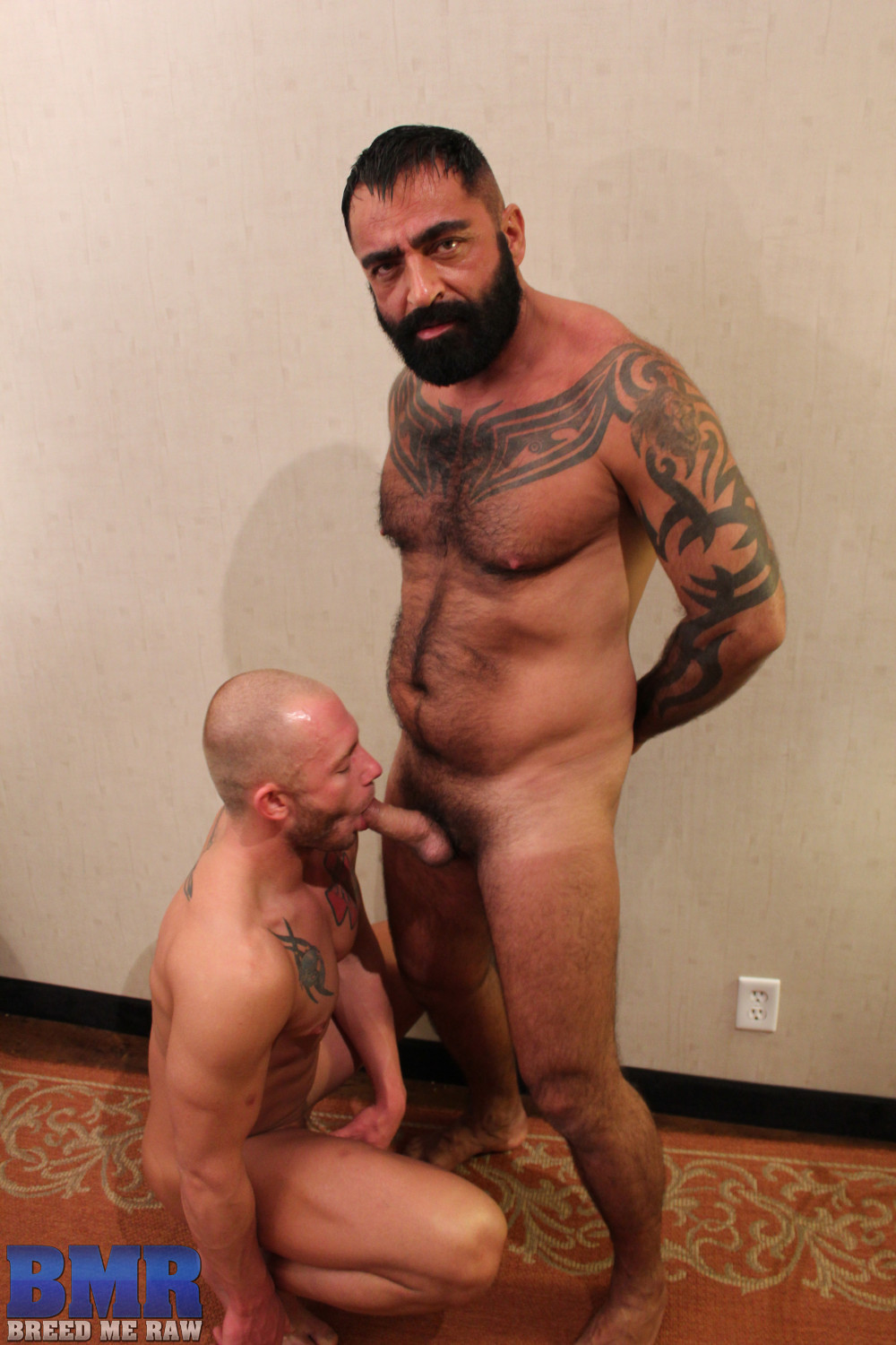 Breed-Me-Raw-Tom-Colt-and-Preston-Johnson-Hairy-Daddy-Barebacking-Amateur-Gay-Porn-01 Amateur Hairy Tatted Daddy Barebacking a Hot Young Smooth Bottom