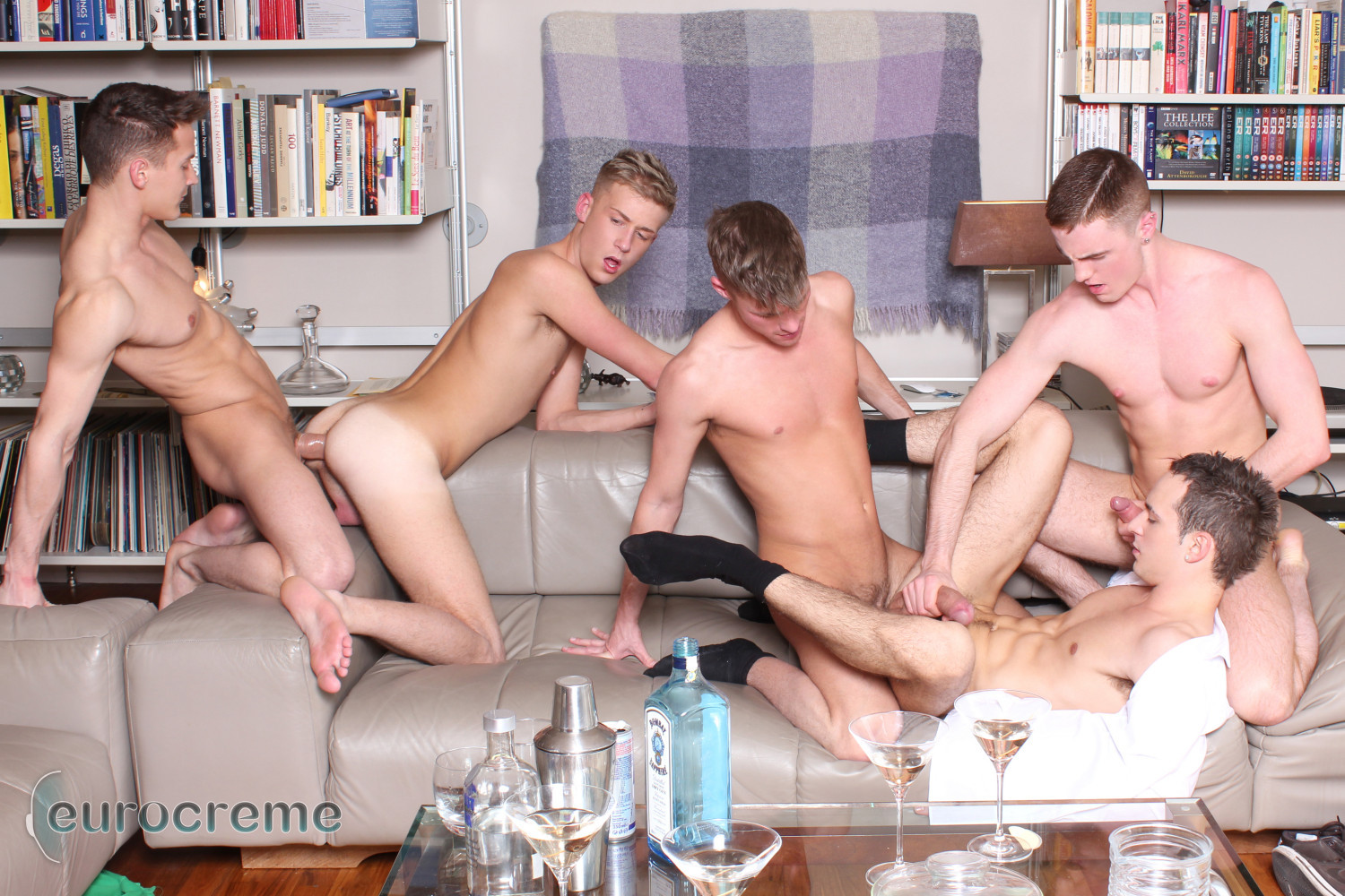 Huge dick gay orgy