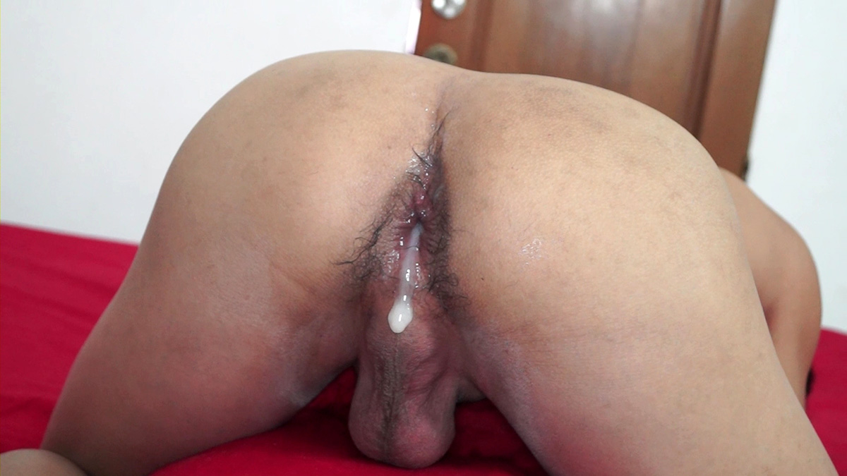 his ass full of cum