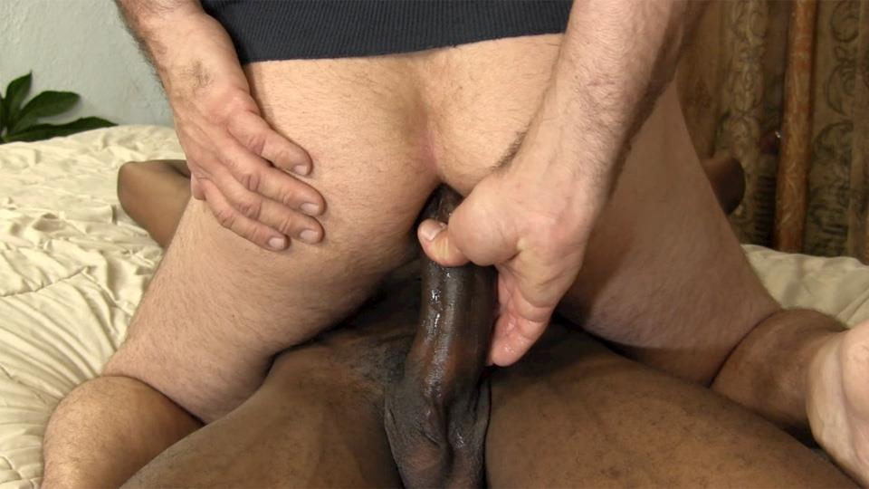 Straight white guy fucks black cock