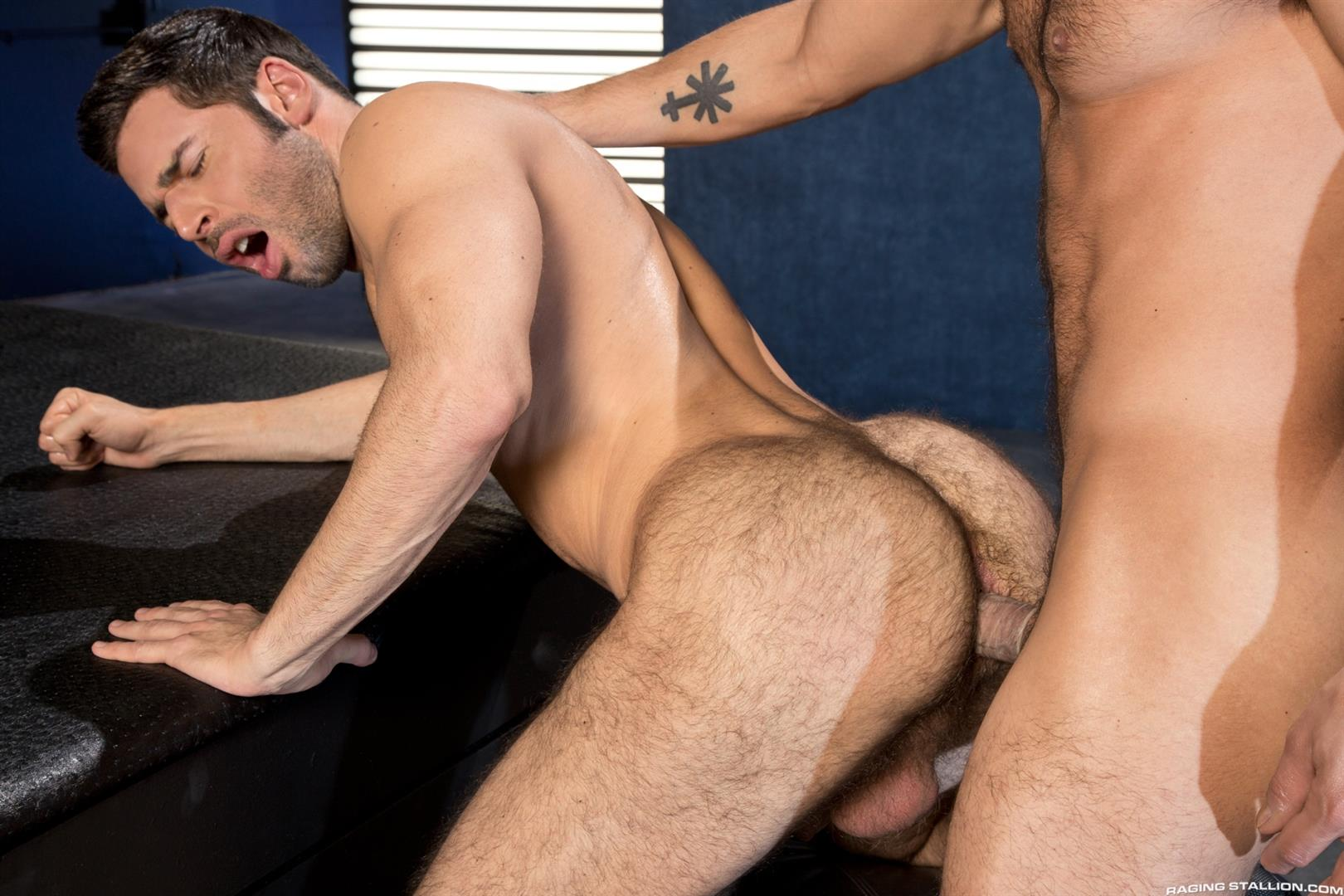 Raging-Stallion-Adam-Ramzi-and-Dario-Beck-Hairy-Ass-And-A-Big-Uncut-Cock-Amateur-Gay-Porn-13 Fucking A Hairy Ass Muscle Jock Ass With A Big Uncut Cock