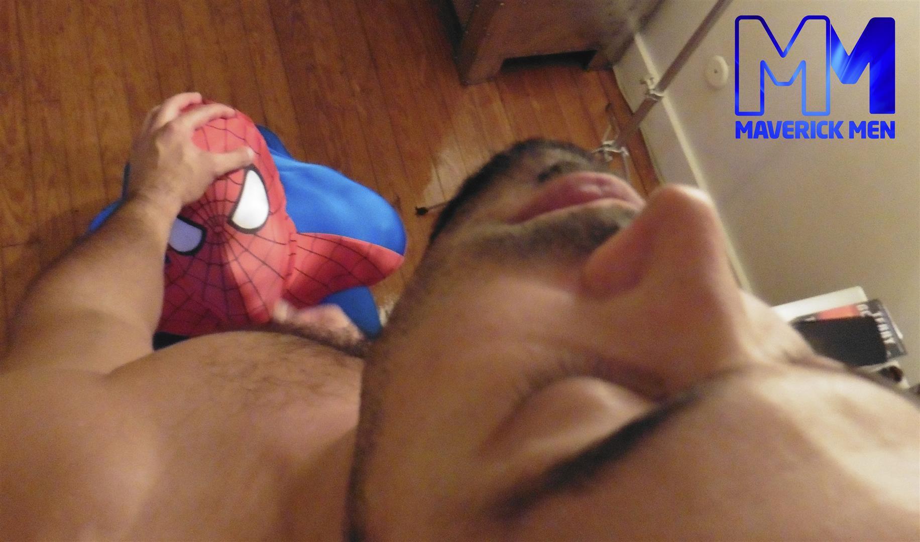 Maverick-Men-Spiderman-With-A-Big-Black-Dick-Bareback-Threesome-Amateur-Gay-Porn-12 Happy Halloween... Did You Know That Spiderman Has A Big Black Dick?