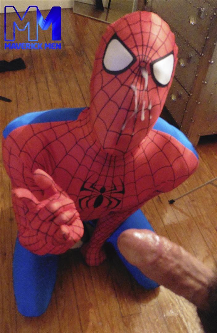 Maverick-Men-Spiderman-With-A-Big-Black-Dick-Bareback-Threesome-Amateur-Gay-Porn-13 Happy Halloween... Did You Know That Spiderman Has A Big Black Dick?