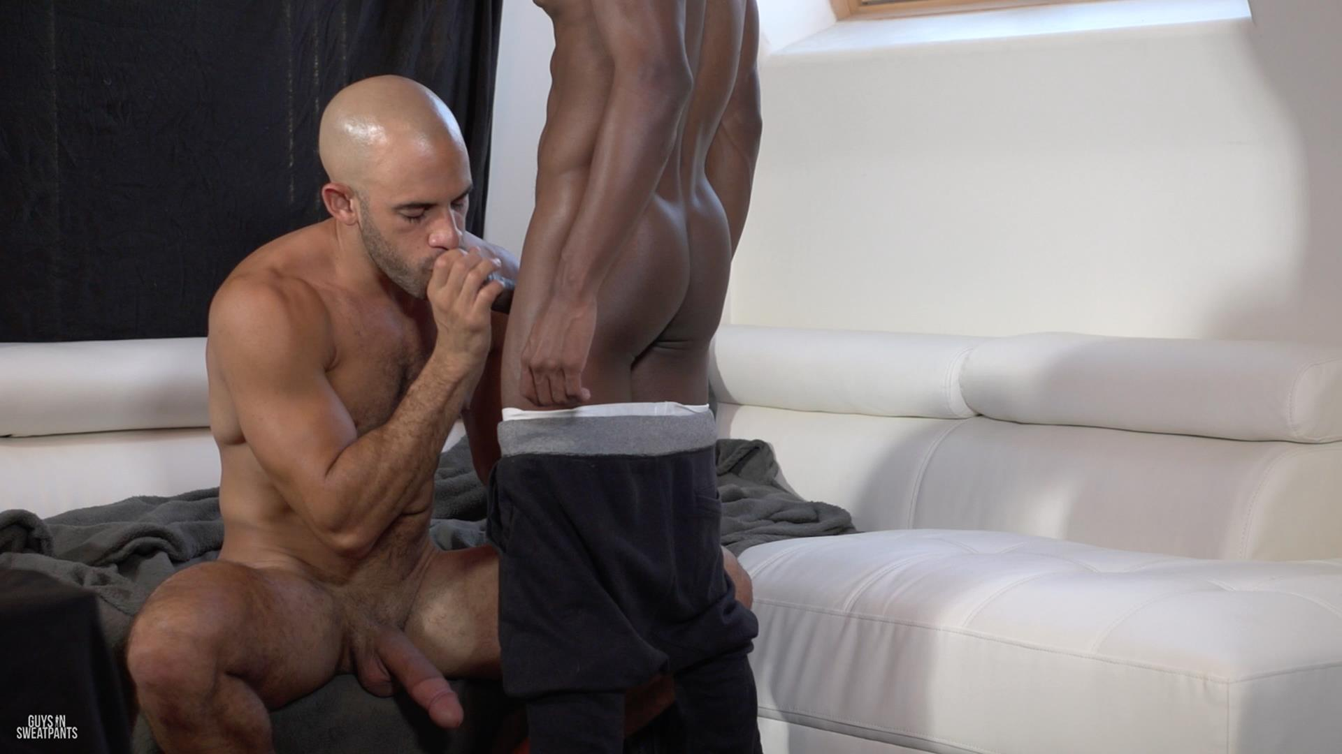 Guys-in-Sweatpants-Austin-Wilde-and-Liam-Cyber-Bareback-Interracial-Sex-Amateur-Gay-Porn-01 Austin Wilde Takes A Big Black Bareback Cock Up The Ass