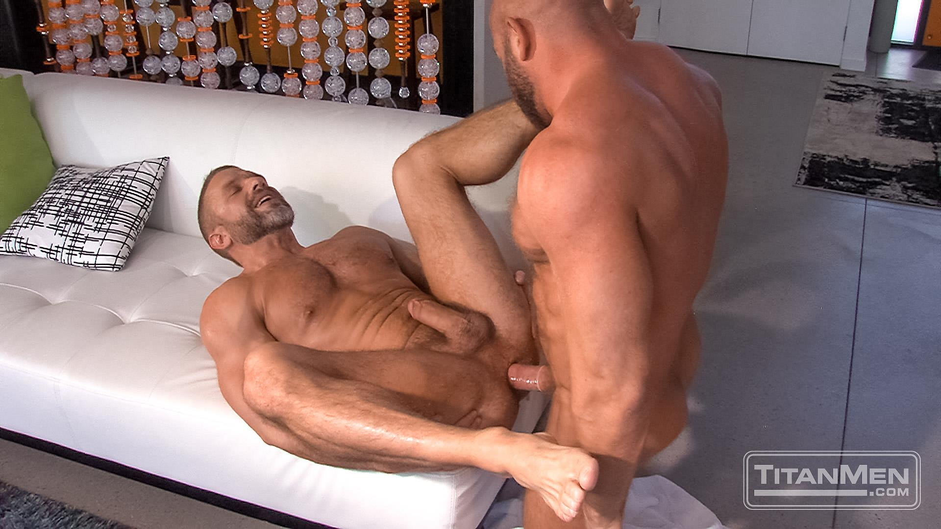Titanmen-Titan-Hunter-Marx-and-Dirk-Caber-Hairy-Muscle-Daddy-Fuck-Amateur-Gay-Porn-41 Dirk Carber Gets Fucked Hard By Another Muscle Daddy With A Thick Cock