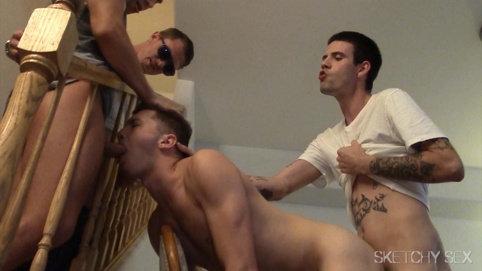 Sketchy-Sex-Bareback-Sex-Orgy-Amateur-Gay-Porn-06 All Out Bareback Sex Buffet At The Sketchy Sex Condo