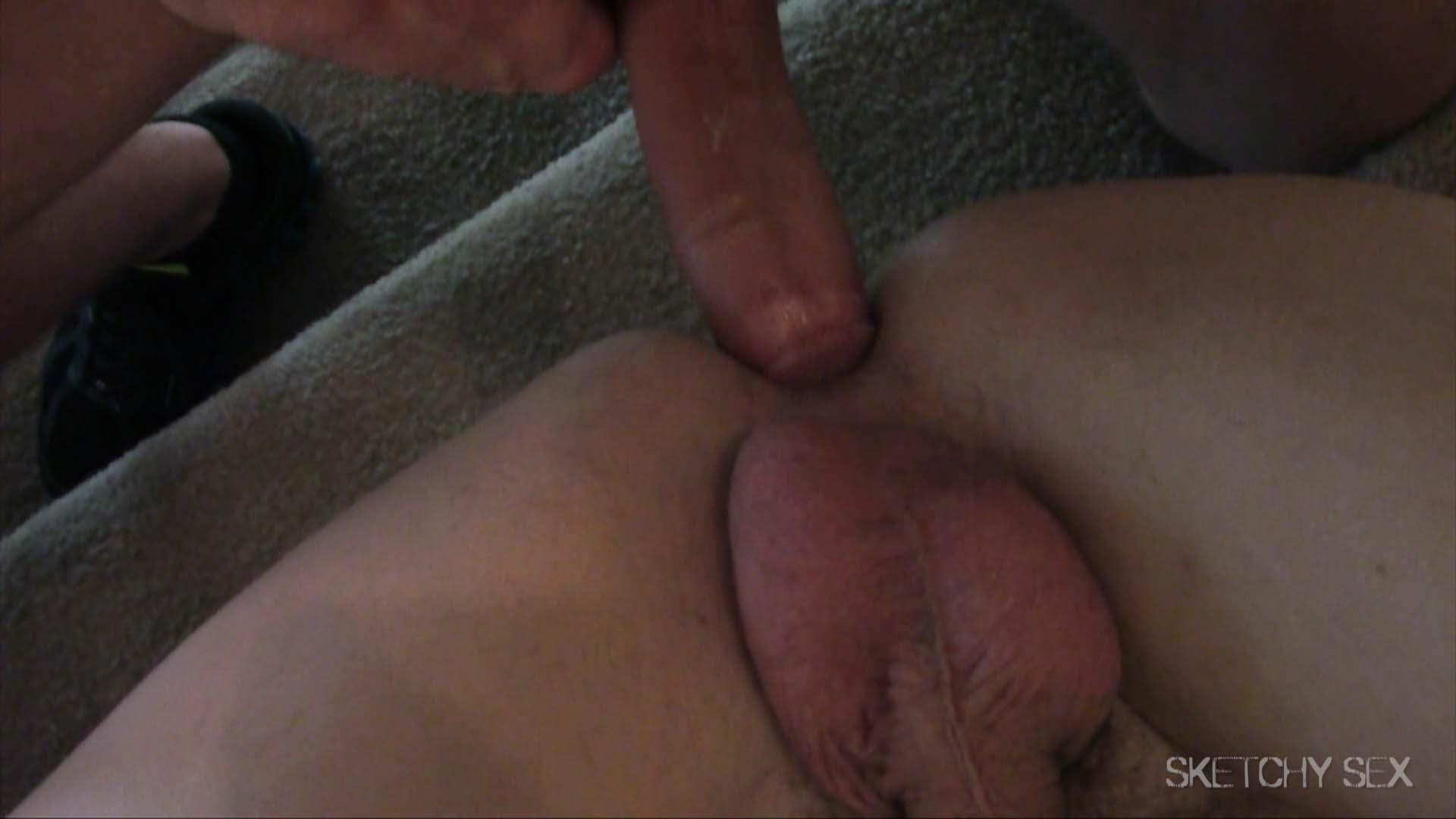 Sketchy-Sex-Bareback-Breeding-Anonymous-Sex-Amateur-Gay-Porn-07 Three Hung Guys Breeding A Slutty Jock Hole