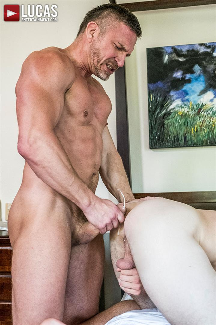 Lucas-Entertainment-Shawn-Reeve-and-Tomas-Brand-Bareback-Daddy-Sex-14 Bareback Riding A Thick Uncut Daddy Dick