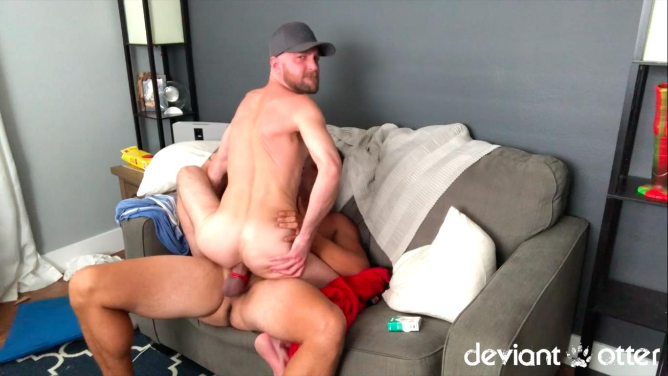 Deviant-Otter-and-Jace-Chambers-Amateur-Gay-Bareback-Sex-Video-6 Deviant Otter Gets His Hairy Hole Bred By Jace Chambers
